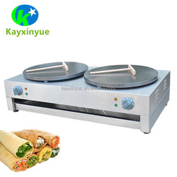 12 months warranty Double Head Crepe Maker Commercial Automatic Crepe Machine for Sale