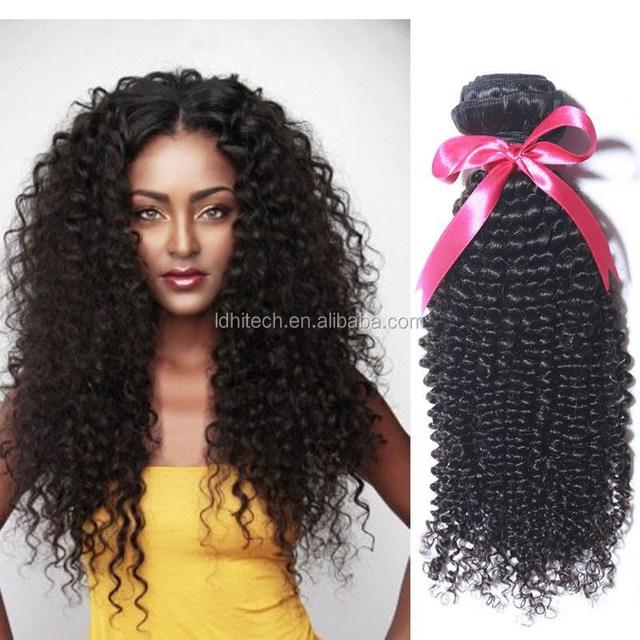 100%human brazilian hair weft kinky curl afro twist braid hair extension