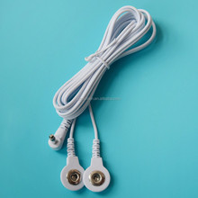 3.5mm mono plug to Tens unit electrode snap ECG cable for massager
