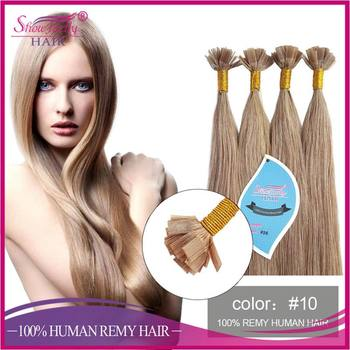 Alibaba china wholesale flat hair extension Golden Brown remy human hair extension itip utip hair products available