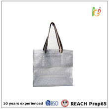 Reusable white color shopping bag with inside pocket for transparency 2015