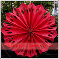 "Hot sale 12"" Red Pinwheel Paper Flower fans Birthday stage Hanging Decoration"