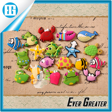 custom 3d fridge magnet,fridge magnet material soft PVC animal fish shape fridge magnet