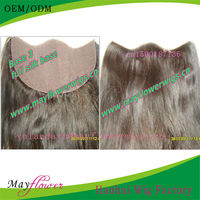 silk base yaki straight texture natural looking bleached hidden knots lacefrontal