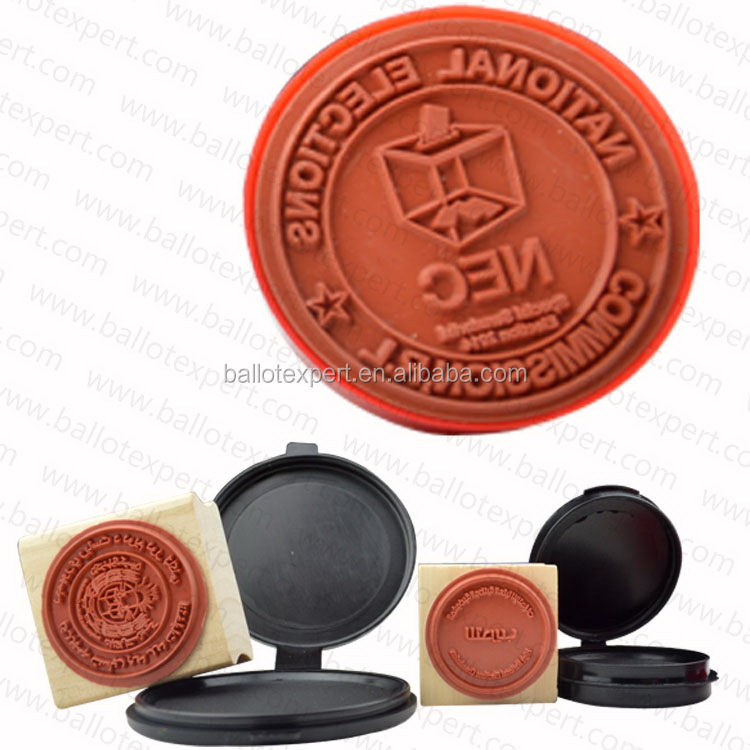 High quality decorative concrete stamp wooden ink stamp