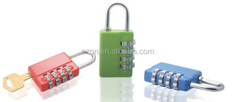 4 digital combination lock with master key/Combination Padlock With Master Key/zinc alloy 4 code combination padlock