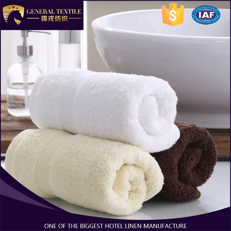 Luxury 100% cotton banded satin fitness towel spa towel