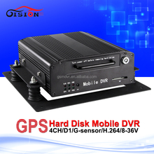 Built-in Gps Model Cctv Surveillance System Mobile Dvr Support 2T Hard Disk,128G SD Car Video Recorder For Vehicle