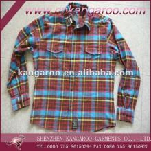 Spring hot sale mens casual brushed plaids check flannel shirts
