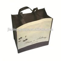 Eco-friendly recycling nonwoven foldable shopping bag,customized print
