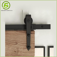 Cantilever sliding door safety wheel rail and track