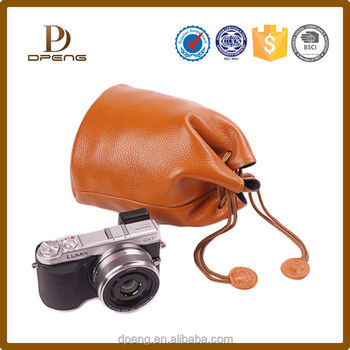 Vintage classic OEM wholesale pu leather camera case for samsung galaxy camera ek-gc100
