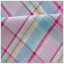 Fashionable and high quality 100% cotton yarn dyed big check fabric