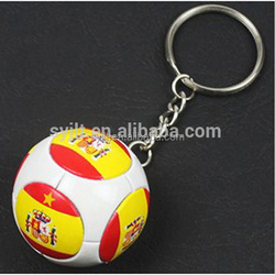 The spot can be customized The Brazilian World Cup team jersey fan key PVC sponge super good quality key chain
