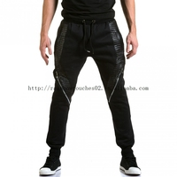 Twill Buku elastic materials stitched hidden button closure pants skinny