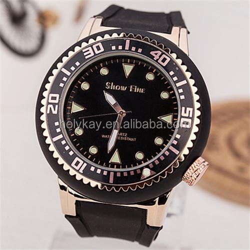 New products 2014 in dubai wholesale market fashion black plastic band men wrist watches accept paypal