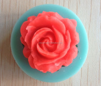 Single Rose shape Chocolate Candy Jello 3D silicone Mold Mould cake tools Bakeware Pastry bar Soap Mold