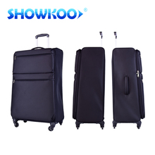 Trendy style 20/24/28 inch travel luggage 3 pieces set unique carry on luggage airport luggage travel bag Aluminum trolley