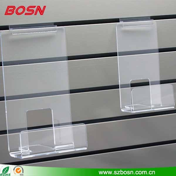 Hot selling wall mounted Acrylic Learning Bookshelf book holder