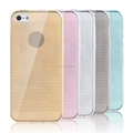 For apple iphones compatible brand and unbreak diamond-pattern TPU cell phone case for iphone 5