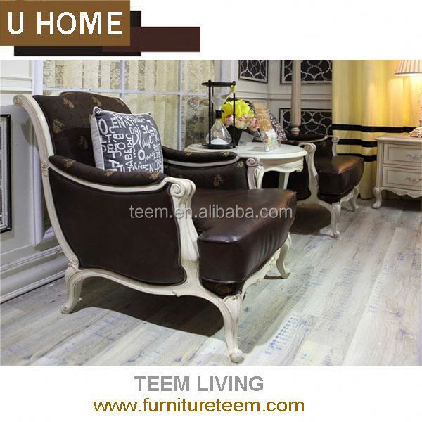 2014 U HOME franch style fabric leather sofa (H136) design furniture pattaya thailand