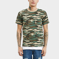 Lasted design crew neck dropped shoulder wholesale camo t shirts for men