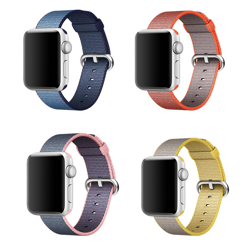 Woven Nylon Watch Band Strap For Apple Watch Watchband Bracelet 38mm 42mm