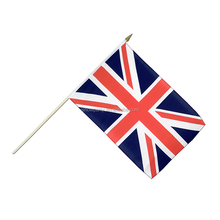 Wholesale High Quality 68d Polyester Cheering Small Union Jack Hand Held Flags