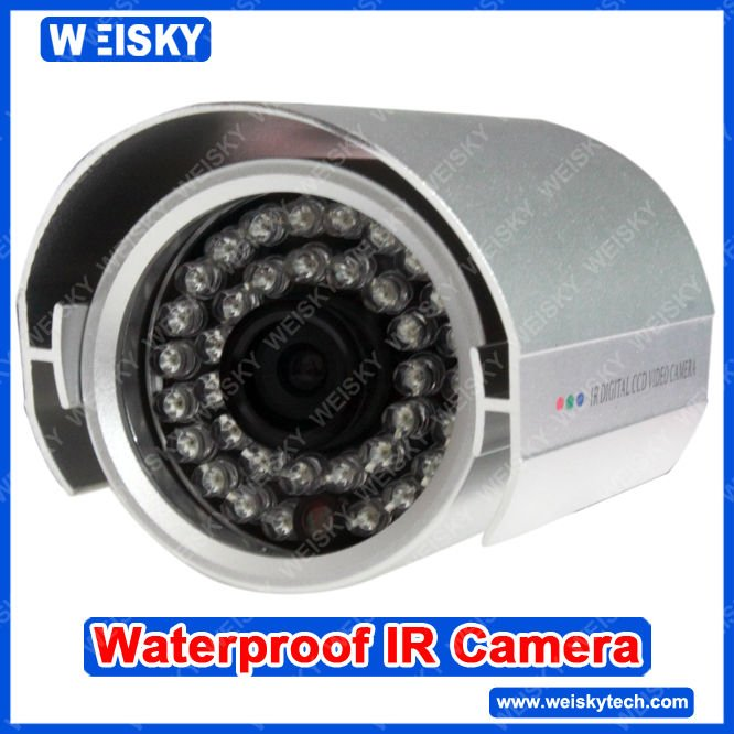 Color Waterproof IR Camera with Sharp CCD 600TVL