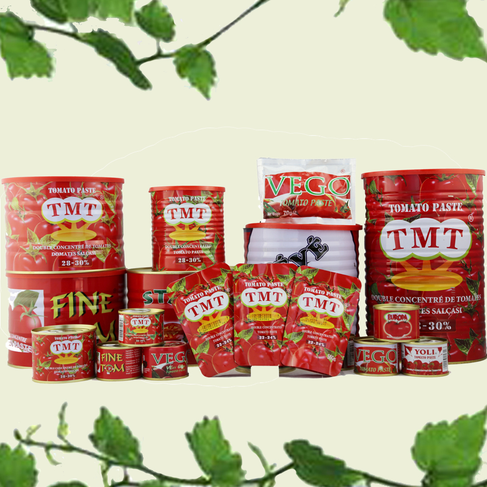 Tomato Paste Factory Price Brix 28-30% 3.15kg Canned Tomato Paste