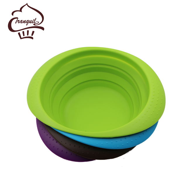 Food grade fruit bowl silicone collapsible bowls salad container homes for sale