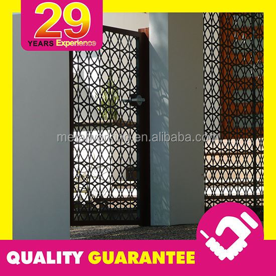 Outdoor Black Laser Cut Main Gate Design