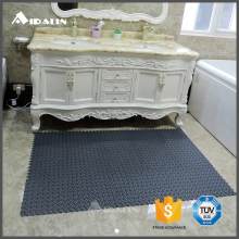 Square design pvc thin bath door mat
