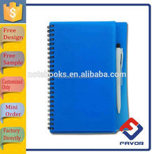 2016 promotion stationery notepad plastic pp cover notebook with pen