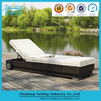 Sailing Top Selling Bali Style Outdoor Modern Furniture Pe Rattan Day Bed