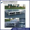 outdoor 1X1m Aluminum protable mobile adjustable wedding satge