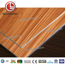 GLOBOND Hot Selling Anodized Acp Panel Wood Grain Aluminum Composite Panel