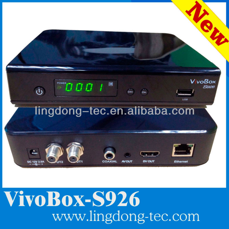 digital satellite internet receiver azclass/ vivobox s926 with IKS / sks decoder nagra3 stable than azbox bravissimo hd tocom