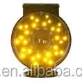 solar yellow LED rotating barrier light with light sensor
