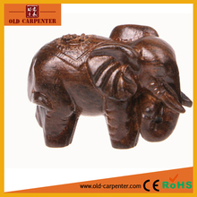 2017 Wealthy Elephant wooden carving decorative item