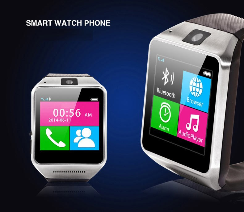VG02 OGS Capacitive touch screen watch Phone/mobile watch/bluetooth watch for IOS and android
