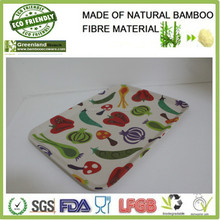 various vegetables designs bamboo fibre custom serving tray
