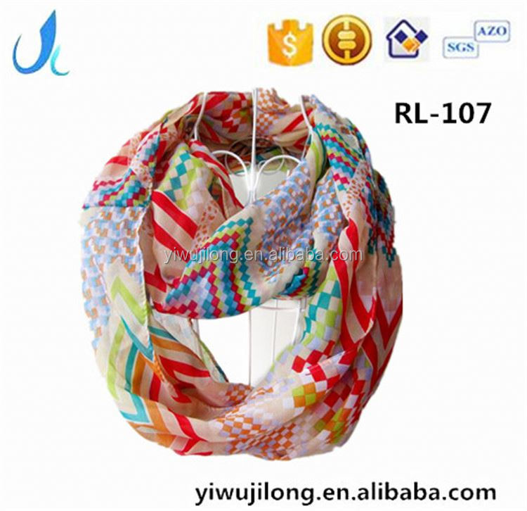 Wholesale fashion scarf baby warm and comfortable plain cotton infinity scarf