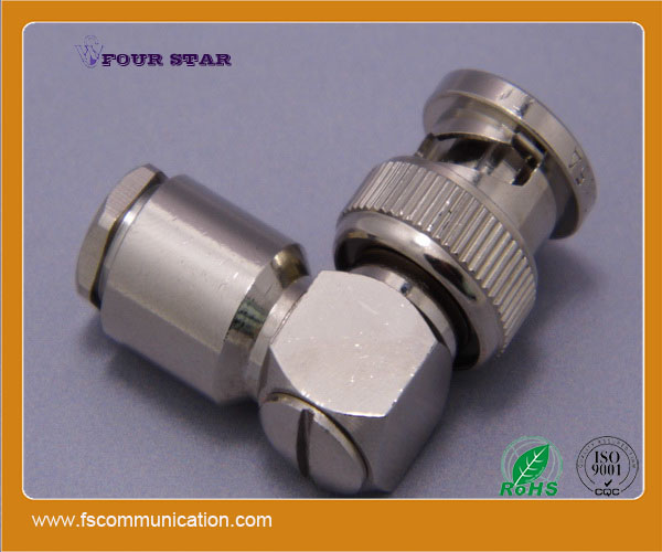 Right Angle Union : Bnc connector male right angle clamp for rg cable buy