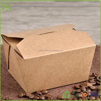 2015 18oz Whloeslae Bio-degradable Food Lunch Boxes/Food Grade Kraft Paper Easy Take Away Packing Boxes