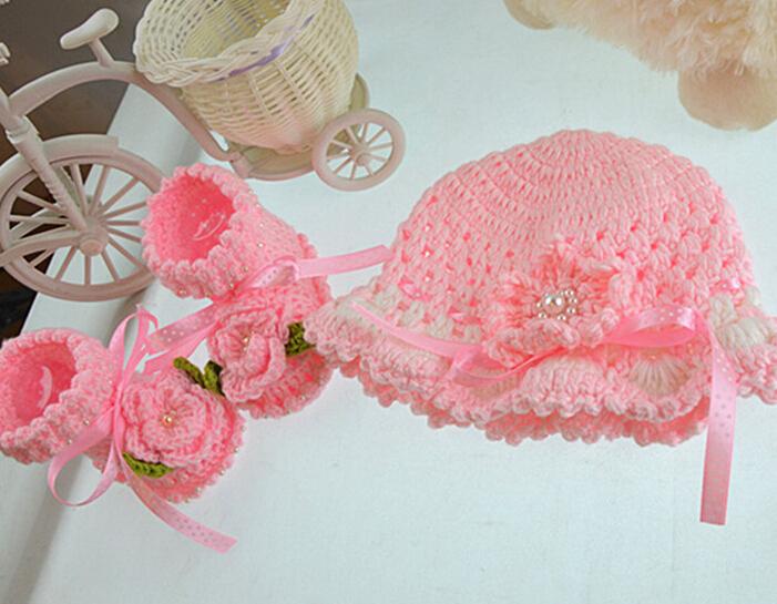 Recién Nacido crochet sombrero patrón sombreros para bebé niñas ...