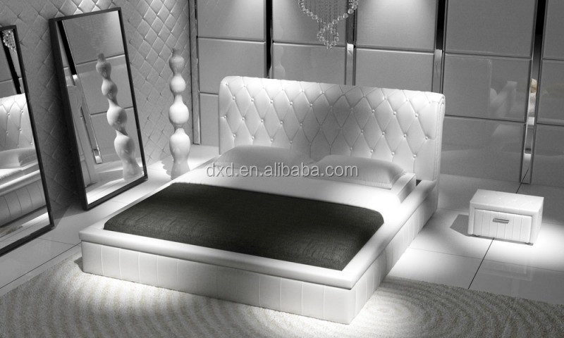 Gas Lift Up Storage PU/Leather Bed /Ottoman bed