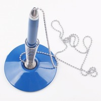 Hotel supply customized logo plastic table ballpoint pen with stand holder and rope