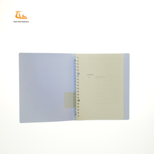 Manufacturer Promotion A4 A5 A6 Stationery set PP soft cover vintage loose leaf ring binder notebook andy diary