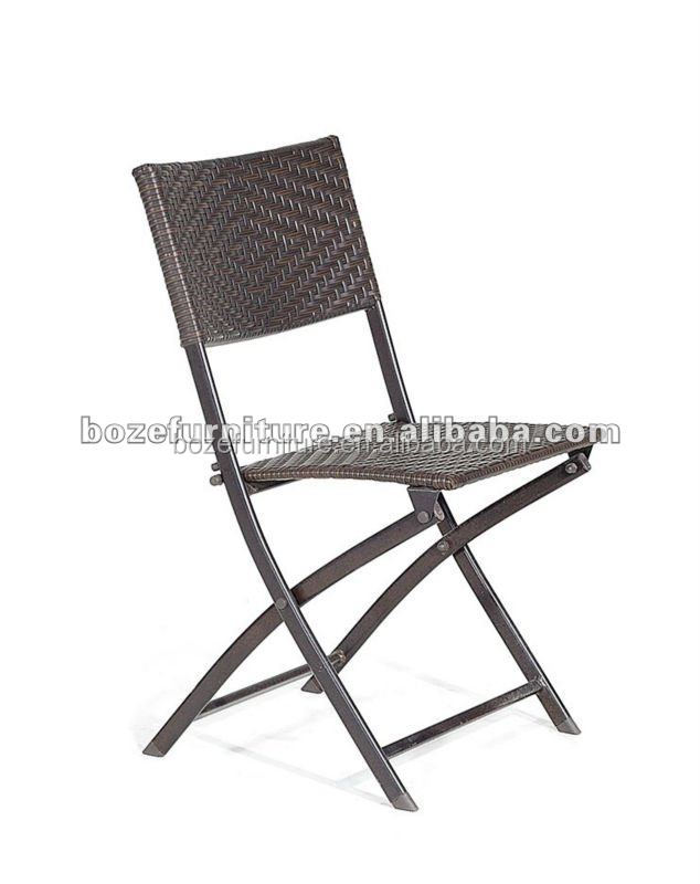 outdoor rattan steel chair/ garden iron wicker chair